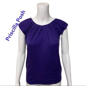 Banana Republic Short Sleeve Blouse Purple